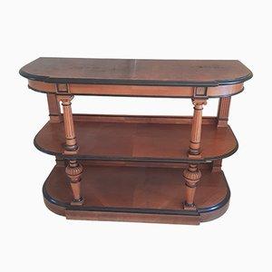 Ancienne table console Empire en acajou et ébène