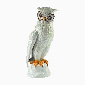 Majolica Owl from Bassano, Italy, 1980s