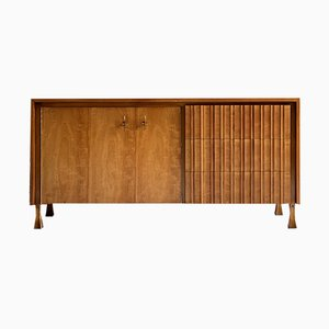 Brutalist Walnut Sideboard by John Widdicomb, USA, 1960s