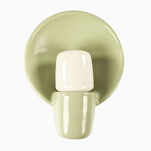 Celadon Green Ceramic Model 6451 Sconce by Wilhelm Wagenfeld for Lindner, 1970s