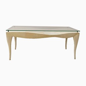 Parchment Covered Coffee Table from R&Y Augousti, 1980s