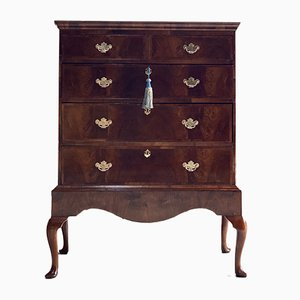 Antique Walnut Tallboy Chest of Drawers, 1820s