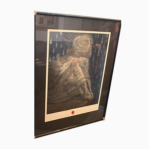Agnus Mysticus Screenprint by Ernst Fuchs, 1930s