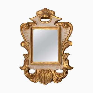 Small Italian Carved and Gilded Mirrors, 1990s, Set of 2