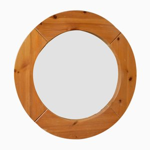 Scandinavian Solid Pinewood Mirror, 1960s