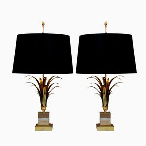 Mid Century Table Lamps from Maison Charles, Set of 2