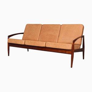 Rosewood Paper Knife 3-Seat Sofa by Kai Kristiansen, 1960s