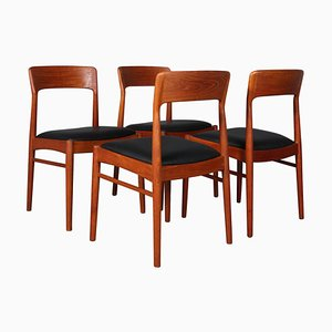 Teak Dining Chairs by Henning Kjærnulf, 1970s, Set of 4
