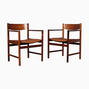 Rosewood Armchairs by Ib Kofod-Larsen, 1960s, Set of 2