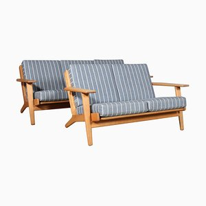 Oak Model 290 2-Seat & 3-Seat Sofas by Hans J. Wegner for Getama, 1970s, Set of 2