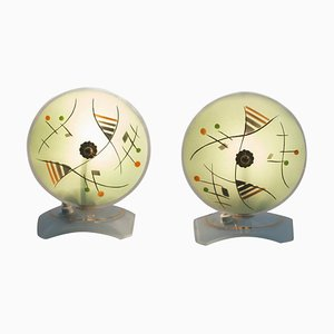 Mid-Century Murano Bedside Lamps, 1940s, Set of 2