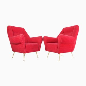 Mid-Century Armchairs by Gigi Radice for Minotti, Italy, 1950s, Set of 2