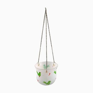 Hanging Herbal Pot in Art Glass by Ulrica Hydman Vallien for Kosta Boda, 1980s
