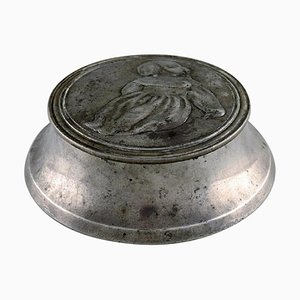 Art Nouveau Lidded Box in Pewter by Ballin & Hertz, Denmark, 1920s