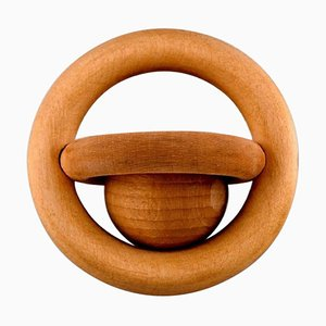 Danish Baby Rattle in Beech by Kay Bojesen