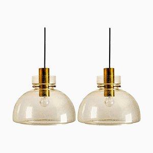 Pendant Lamps by Herbert Proft for Limburg Glashütte, 1970s, Set of 2