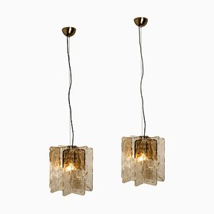 Chandeliers by Carlo Nason for Mazzega, 1970s, Set of 2