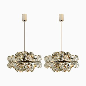 Diamond Chandeliers by Bakalowits & Söhne, 1970s, Set of 2