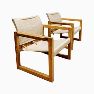 Mid-Century Diana Safari Chairs & Table by Karin Mobring for Ikea, 1970s, Set of 4