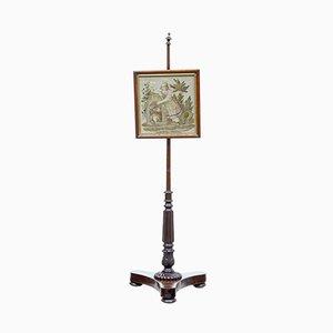 19th Century William IV Mahogany Pole Screen