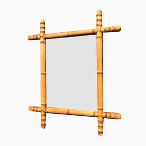 Medium Faux Bamboo Mirror, 1900s