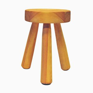 Swedish Pine Stool by Ingvar Hildingsson, 1970s