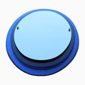 Specchio ovale blu cobalto di Luigi Fontana per Fontana Arte, anni '40
