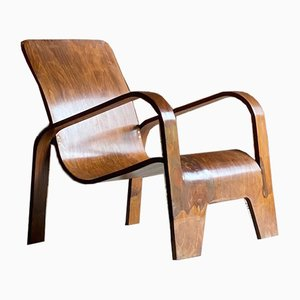 Birch Plywood Lawo Armchair by Han Pieck, 1940s