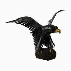 Vintage Eagle Sculpture by J. van den Heuvel
