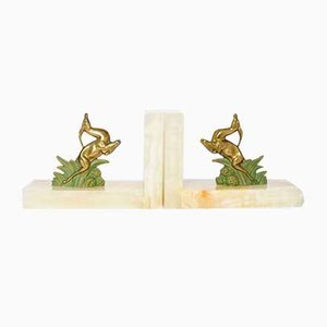 Art Deco Antelope Bookends, 1930s