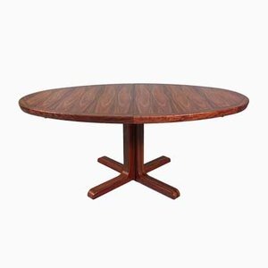 Danish Oval Rosewood Dining Table from Skovby, 1960s