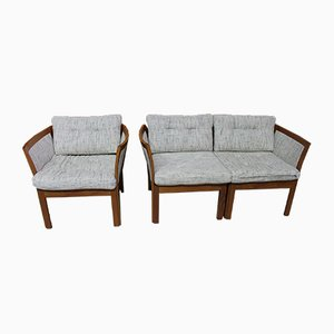 Modular Sofa and Armchair Set by Illum Wikkelsø, 1970s