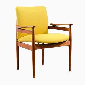 Chaise de Bureau Vintage par Finn Juhl pour France & Søn / France & Daverkosen