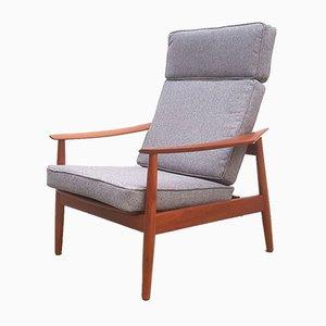 Poltrona modello FD 164 reclinabile in teak di Arne Vodder per France & Søn / France & Daverkosen, anni '60