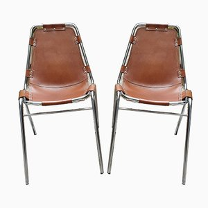 Mid-Century Les Arcs Side Chairs by Charlotte Perriand for Cassina, Set of 2
