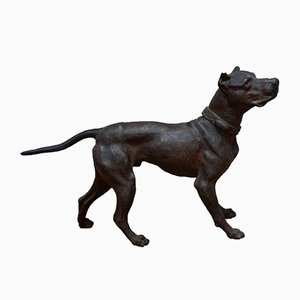 Antique Bronze Great Dane Sculpture, 1920s