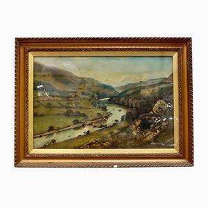West Highland Valley Ölgemälde von JHHewitt, 1904