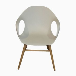 White and Wooden Elephant Armchair by Neuland Paster & Geldmacher for Kristalia, 2010