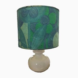 Weiße Keramik Tischlampe, 1970er