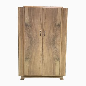 Art Deco French Walnut Wardrobe, 1930s