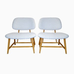Swedish TV Chairs by Alf Svensson, 1950s, Set of 2