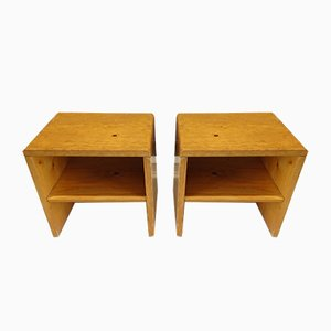 Les Arcs Nightstands by Charlotte Perriand, 1950s, Set of 2