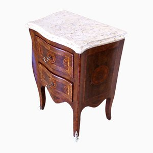 Vintage Louis XV Style Inlaid Nightstands, 1920s, Set of 2