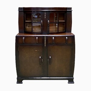 Art Deco English Oak Buffet, 1930s