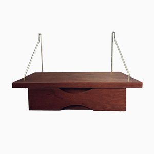 Mid-Century Teak Floating Nightstand