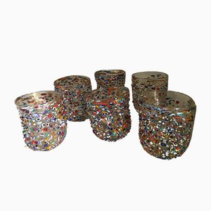 Vasos de agua Murano Goto de Murrisa para Italian Light Design. Juego de 6