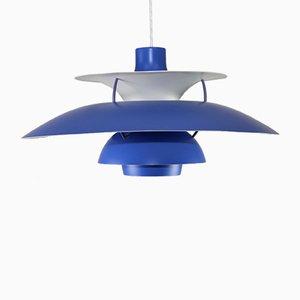 Lampe à Suspension Modèle PH5 en Bleu et Rouge par Poul Henningsen pour Louis Poulsen, 1992