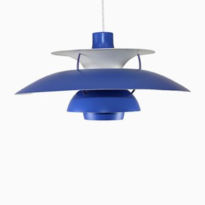 Model PH5 Hanging Lamp in Blue and Red by Poul Henningsen for Louis Poulsen, 1992