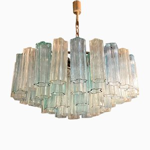 Murano Glass Tube Chandelier by Paolo Venini for Murano, 1970s