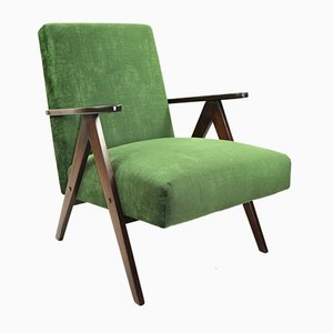 Vintage Green Velvet Var Easy Chair, 1970s